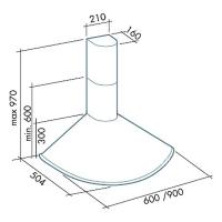 Falmec MINERVA 60 inox (450)