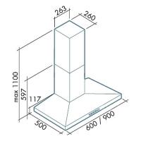 Falmec VULCANO 90 inox (450)